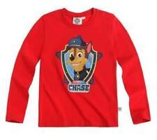 T-shirts, débardeurs et chemises rouge à manches longues pour garçon de 2 à 16 ans en 100% coton