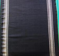 """Moda Skandinavian 16"""" Rural Jardin Black WovenToweling Tablerunner Hemmed Fabric"""