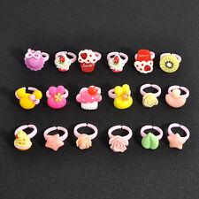 20Pcs Random Wholesale Mixed Lots Cute Cartoon Children/Kids Resin Rings Jewelry