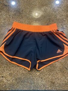 Adidas Athletic Shorts Women's Sz S Black And Orange