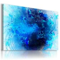 ABSTRACT BLUE PLANET CANVAS WALL ART PICTURE  AB668 MATAGA  UNFRAMED-ROLLED