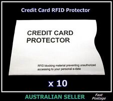 New 10 x CREDIT CARD PROTECTOR RFID Wallet Sleeve Blocking Security Theft Scan