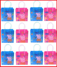 New Peppa pig Reusable Birthday Party Favor Goodie Gift candy Loot Bags 12pcs