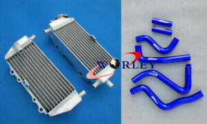 FOR KAWASAKI KX250 KX 250 1999 2000 2001 2002 Aluminum Radiator&Silicone Hose Bl