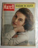 N347 Magazine Paris-Match N°512 31 janv 1959 Madame de Gaulle, Ingrid Bergman