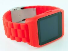 Sony SmartWatch 3 SWR-50 housing/adapter with red silicone diver strap