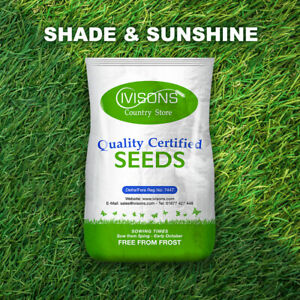PREMIUM SHADY AREA LAWN SEED GRASS SEED SHADED UNDER TREES IVISONS SEEDS