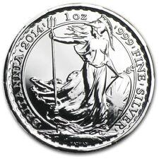British Royal Mint UK £2 Britannia Horse Privy 2014 1 oz .999 Silver Coin