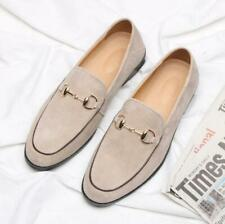 Men's Casual Pointed Toe Suede Leather Comfy Party Loafers Slip On Driving Shoes