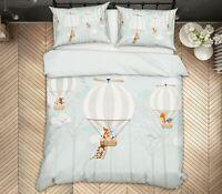 3D White Balloon ZHUA1401 Bed Pillowcases Quilt Duvet Cover Set Queen King Zoe