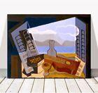 "JUAN GRIS Art - The Open Window CANVAS PRINT 10x8"" - Cubist, Cubism, Guitar"