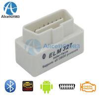 Mini ELM327 V2.1 OBD2 II Bluetooth Diagnostic White Car Auto Interface Scanner