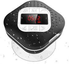 AGPTEK 4-in-1 IPX4 Waterproof Bluetooth Shower Speaker Radio for Bathroom, Pool