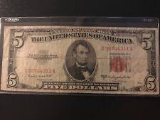 1953-b 5 Dollar US Bank Note ... 30744311 US Paper Money