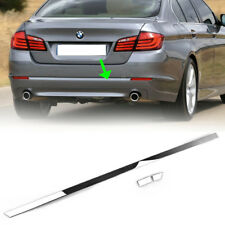 Stainless Steel Rear Bumper Lid Cover Trim For BMW 5 Series F10 2013