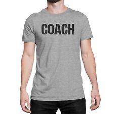 Coach T-Shirt Adult Mens Tee Shirt Front Screen Printed Coaching Tshirt