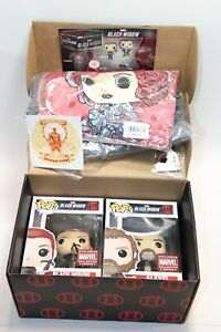 Funko Pop Marvel Collector Corps JUNE BLACK WIDOW COMPLETE BOX XXX-L SHIRT NEW