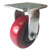"""5"""" x 2"""" Heavy Duty """"Polyurethane Wheel"""" Caster - Rigid"""