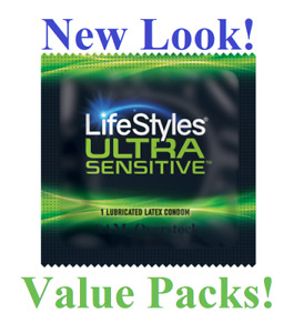 Lifestyles ULTRA SENSITIVE Lubricated Condoms Latex Condom, Pack of 40!