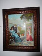 Antique McLoughlin Bros. Lithograph Framed
