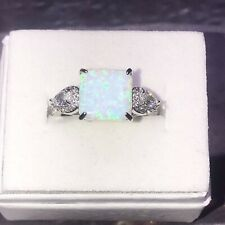 Fizzy Ring Bomb Party Bling Rhodium Plated Band Size 7 Retail $166 Fire Opal