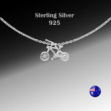 ONE Sterling Silver(925) Bush Bike Desinger Necklace Pendant for Girl