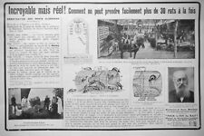 PUBLICITÉ DE PRESSE 1914 INCROYABLE MAIS VRAI COMMENT PRENDRE FACILEMENT 30 RATS