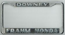 SUPER RARE Downey California Frahm Honda Vintage JDM Dealer License Plate Frame