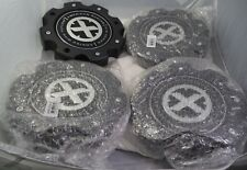 AMERICAN RACING ATX FLAT BLACK Custom Wheel Center Cap Caps Set 4 # 490L204 NEW!