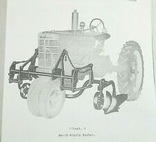 Mccormick Hm 19 M 19 2 Row 3 Row Middle Buster Farmall H M Owners Manual