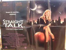 Dolly Parton STRAIGHT TALK(1992) Original UK quad movie poster