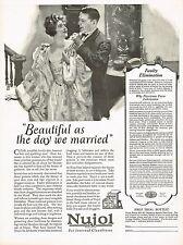 1920s BIG Vintage Nujol Laxative Medicine Mens Womens Fashion Art Print Ad