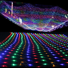 Multicolor 2*3M 204 LED Bulb Mesh Net String Light Waterproof Xmas Wedding Decor