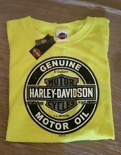 MEN'S HARLEY-DAVIDSON SLEEVELESS MESH T SHIRT, X-LARGE, YELLOW, 50/50, NWT