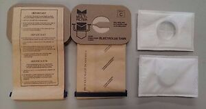 10 Bags for Electrolux Canister Vacuum Style C + 2 After Filters ~ Made in USA