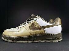 NIKE AIR FORCE 1 PREMIUM '07 TWEED/BRONZED OLIVE WHITE AF1 SWOOSH (SIZE 13)