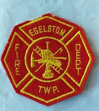 Vintage Fully Embroidered EGELSTON TWP Fire Department U.S.A Cloth Patch