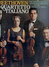 QUARTETTO ITALIANO Beethoven THE RASOUMOVSKY STRING QUARTETS OP 59 2LP BOX