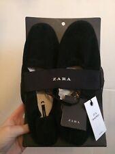 Zara Femme Noir Cuir Fold-Up Sac A Chaussures Avec Sac-Taille 4-neuf avec étiquettes