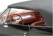 1966 1967 Chevrolet Chevy Chevelle Convertible Top w Plastic Window - BLACK