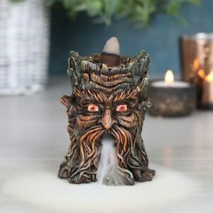 Green man of the woods ~ Backflow Cascade Smoke Incense Cone Burner Holder Gift