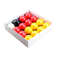"""REDS and YELLOWS 2"""" SIZE English POOL TABLES BALLS SET With 1-7/8"""" WHITE BALL"""