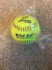 Yellow Slowpitch Softball Worth Asa Hot Dot Ahd12Sy 12 Inch 52/300 Optic New