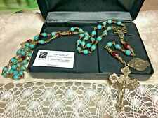VINTAGE OUR LADY of GUADALUPE  ROSARY 8-10mm-LE #0193 CERTIFICATE! Case  NEW