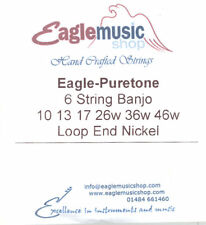 Eagle-Puretone 6 String Banjo String Set 10 13 17 26w 36w 46w Loop End Nickel