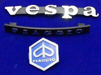 VESPA PIAGGIO HORN CAST, LEGSHIELD BADGE / EMBLEM KIT NEW