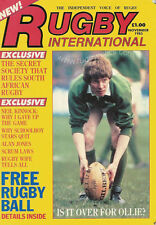 RUGBY INTERNATIONAL MAGAZINE FIRST ISSUE November 1985 - FIJI - SUDAN - TUNISIA
