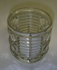 Federal Glass WINDSOR Clear Sugar Pressed Button & Cane Mid-Century.