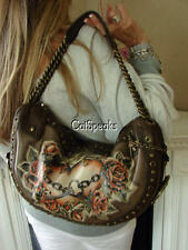 ISABELLA FIORE RARE ME HEARTY TATTOO LEATHER HOBO BAG