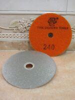 "100mm 4"" Grit 240 THK Diamond FLAT LAP lapping hook loop backed grinding wheel"
